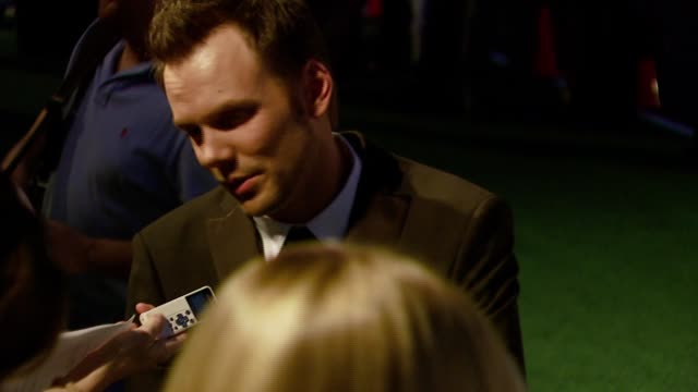 joel mchale at the 2007 ema awards at the wilshire ebell theatre and club in los angeles california on october 24 2007 - wilshire ebell theatre stock videos & royalty-free footage