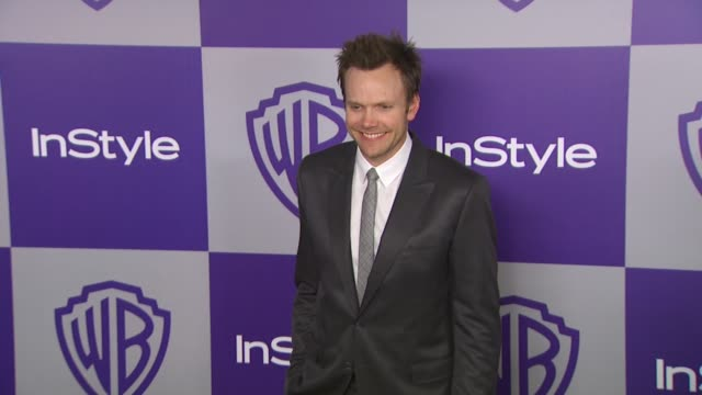 vídeos y material grabado en eventos de stock de joel mchale at the warner bros and instyle golden globe afterparty at beverly hills ca - warner bros