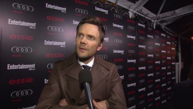 interview joel mchale on awards season on red carpets on how there should be even more award shows every weekend on his picks for sags and oscars at... - entertainment weekly stock-videos und b-roll-filmmaterial