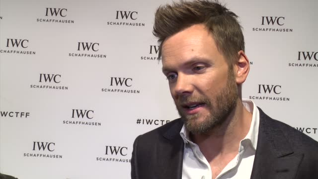 INTERVIEW Joel McHale talks about hosting again this year at IWC Schaffhausen Fourth Annual For the Love of Cinema Gala During The Tribeca Film...