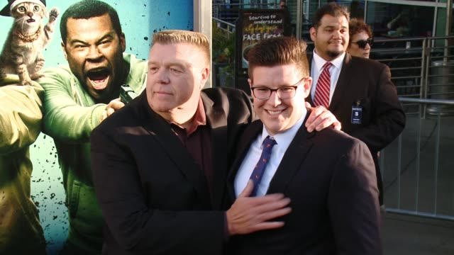 stockvideo's en b-roll-footage met joel mckinnon miller and owen miller at keanu los angeles premiere at arclight cinemas cinerama dome on april 27 2016 in hollywood california - cinerama dome hollywood