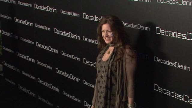 joely fisher at the decades denim launch party at beverly hills ca - joely fisher stock videos and b-roll footage