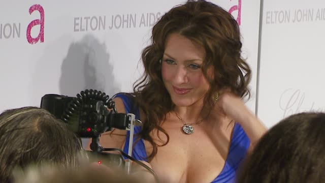 vídeos de stock e filmes b-roll de joely fisher at the elton john 2007 oscar party at pacific design center in west hollywood california on february 25 2007 - joely fisher