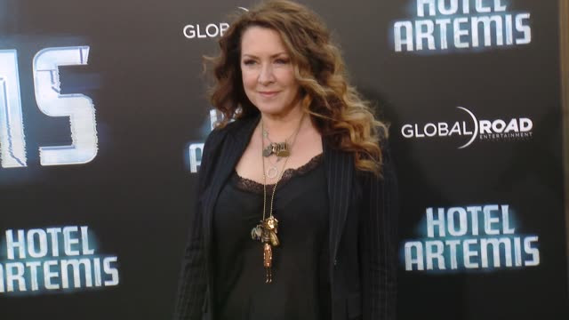 joely fisher at the 'hotel artemis' los angeles premiere at regency bruin theatre on may 19 2018 in los angeles california - joely fisher stock videos and b-roll footage