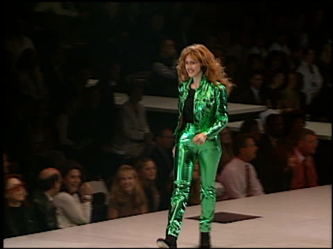 joely fisher at the passport 96 fashion show at santa monica airport in santa monica, california on september 27, 1996. - 1996 stock videos & royalty-free footage