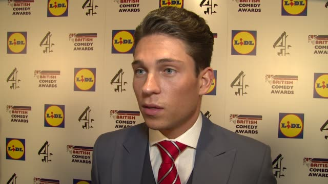 interview joey essex on comedy i'm a celebrity and future projects at the 2014 british comedy awards on 16th december 2014 in london england - comedian stock videos & royalty-free footage