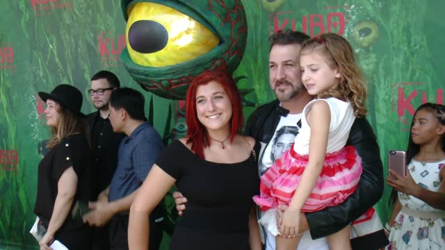 """joey fatone at """"kubo and the two strings"""" world premiere presented by laika and focus features in los angeles, ca 8/14/16 - joey fatone stock videos & royalty-free footage"""
