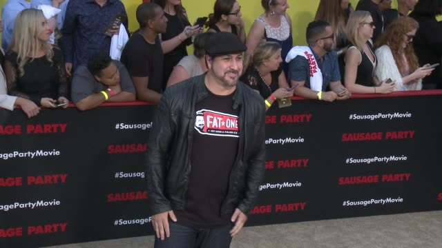 joey fatone at sausage party premiere in los angeles ca - joey fatone stock videos & royalty-free footage