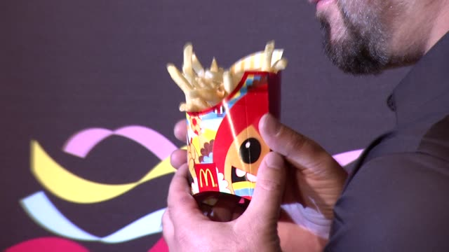 joey fatone at the 2014 fifa world cup mcdonald's launch party on june 05 2014 in new york city - joey fatone stock videos & royalty-free footage
