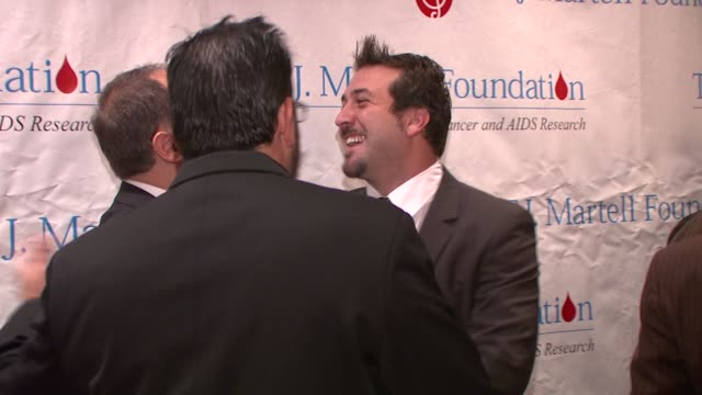 joey fatone at the 33rd annual tj martell foundation awards gala at new york ny - joey fatone stock videos & royalty-free footage