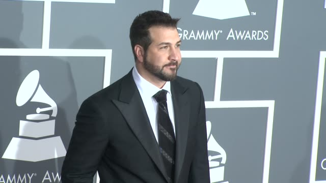 joey fatone at the 51st annual grammy awards part 2 at los angeles ca. - joey fatone stock videos & royalty-free footage