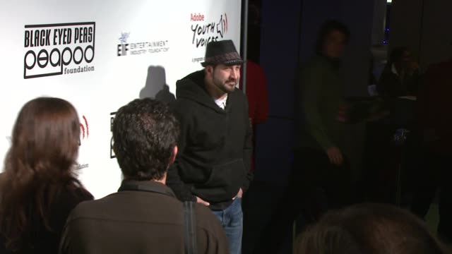 joey fatone at the 5th annual black eyed peas peapod foundation benefit concert at los angeles ca - benefit concert stock videos & royalty-free footage