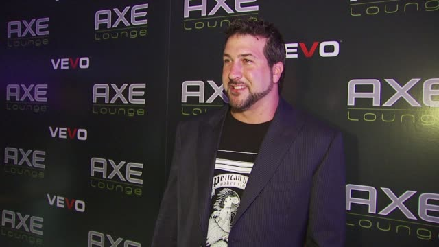 joey fatone at the 'axe lounge at liv' - superbowl weekend 2010 at miami beach fl. - joey fatone stock videos & royalty-free footage