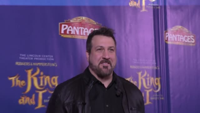 vídeos de stock e filmes b-roll de joey fatone at the king and i opening night at the pantages theatre on december 15, 2016 in hollywood, california. - joey fatone