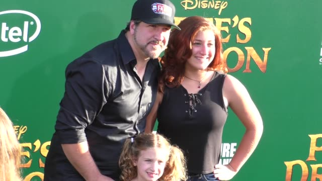 joey fatone at the premiere of disney's pete's dragon at el capitan theatre in hollywood in celebrity sightings in los angeles - joey fatone stock videos & royalty-free footage