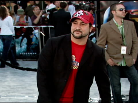 joey fatone at the 'superman returns' premiere at the mann village theatre in westwood california on june 21 2006 - joey fatone stock videos & royalty-free footage