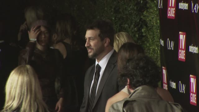 joey fatone at the tv guide 6th annual emmy party at los angeles ca - joey fatone stock videos & royalty-free footage