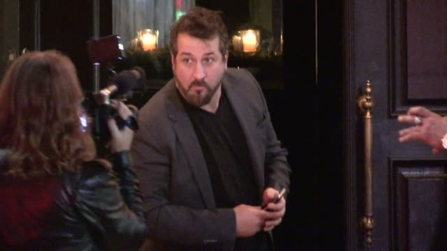joey fatone entering the after party for dwts finale season 19 at beso in hollywood in celebrity sightings in los angeles - joey fatone stock videos & royalty-free footage