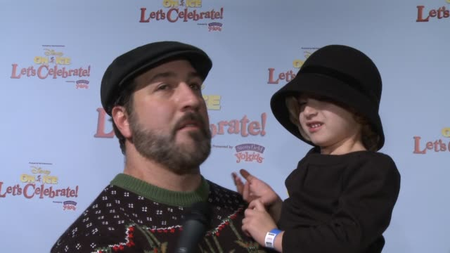 joey fatone on being a part of the event, his family's favorite disney character, how he's spending the holidays at disney on ice presents let's... - joey fatone stock videos & royalty-free footage