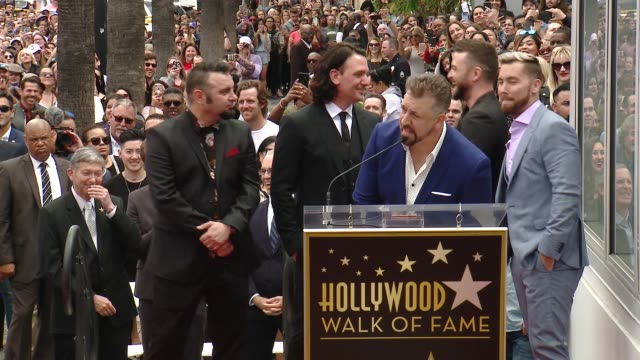joey fatone on the legacy of nsync at the *nsync honored with a star on the hollywood walk of fame on april 30, 2018 in hollywood, california. - joey fatone stock videos & royalty-free footage