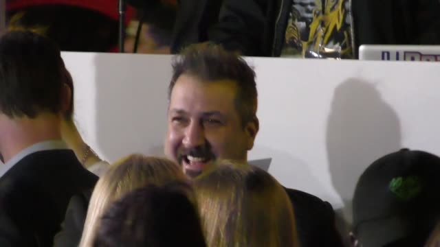 joey fatone outside the passengers premiere at regency village theatre in westwood in celebrity sightings in los angeles - regency village theater stock videos & royalty-free footage