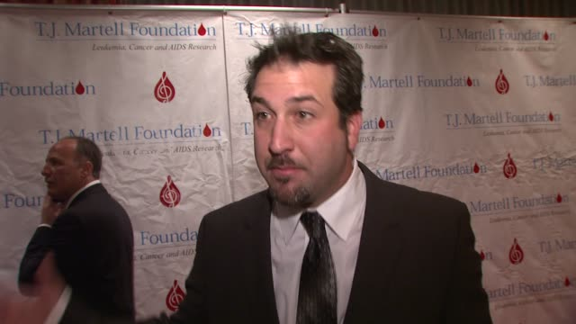 joey fatone talks about being out tonight, why the foundation is so important, on music being a big part of the foundation, on dwts and says he's not... - joey fatone stock videos & royalty-free footage