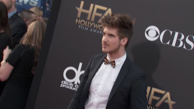 joey graceffa at the 2014 hollywood film awards in los angeles, ca 11/14/14 - joey graceffa stock videos & royalty-free footage