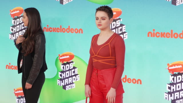 stockvideo's en b-roll-footage met joey king at the nickelodeon's 2019 kids' choice awards at galen center on march 23 2019 in los angeles california - nickelodeon kids' choice awards