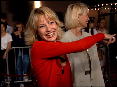 joey lauren adams at the 'mall rats' premiere on october 17 1995 - anno 1995 video stock e b–roll