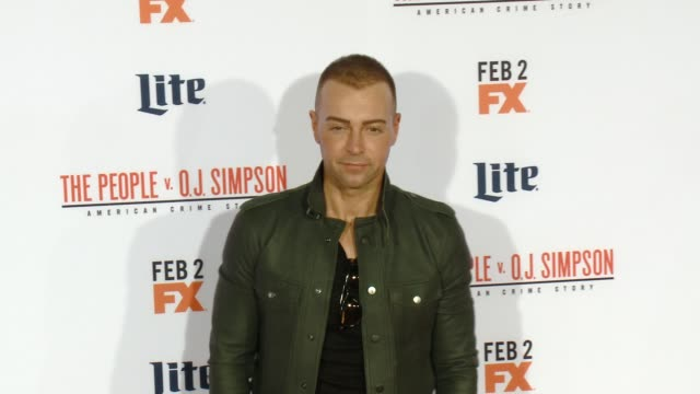 """joey lawrence at fx's """"the people v. o.j. simpson: american crime story"""" premiere at westwood village theatre on january 27, 2016 in westwood,... - westwood village stock videos & royalty-free footage"""