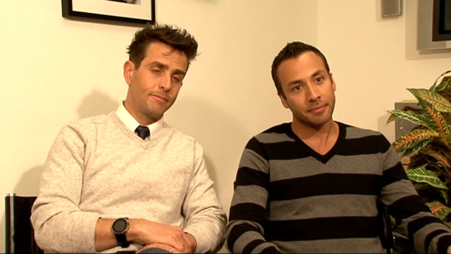 Joey McIntyre and Howie Dorough interview ENGLAND London INT Joey McIntyre and Howie Dorough interview SOT On the upcoming joint tour all the hits...