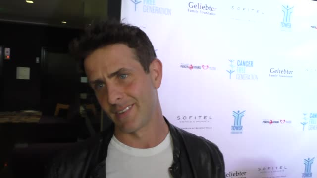 INTERVIEW Joey McIntyre on boy bands then versus now at the Tower Cancer Research Foundation 3rd Annual Ante Up for a Cancer Free Generation Poker...