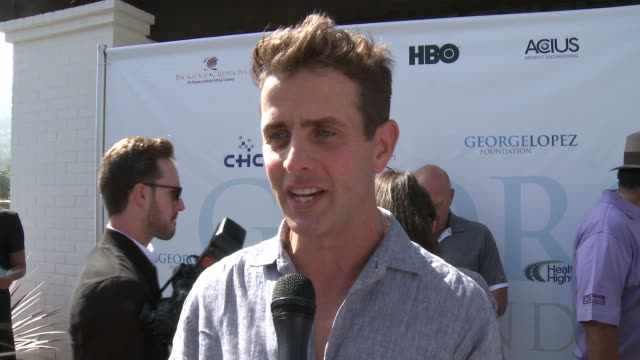 INTERVIEW Joey McIntyre on why he came out to support George and his foundation on the work that George and how much fun the tournament is on how he...