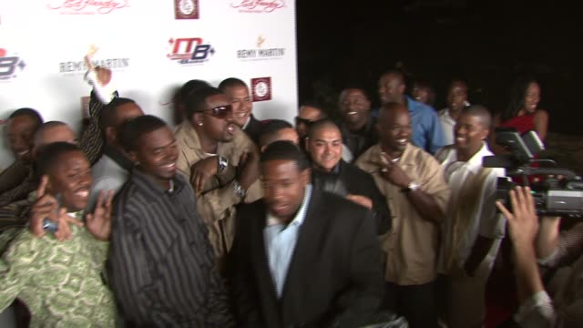 Joey Porter and guests at the Kiss and Tell Party at Playboy Mansion in Los Angeles California on April 22 2007