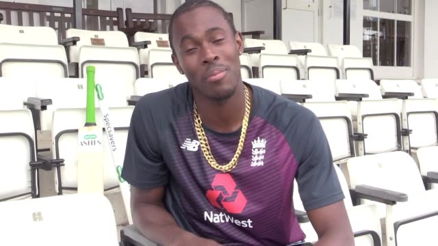 """jofra archer believes england have """"planted a few seeds of doubt"""" in the minds of australia's players with their incredible one-wicket win at... - ashes test stock videos & royalty-free footage"""