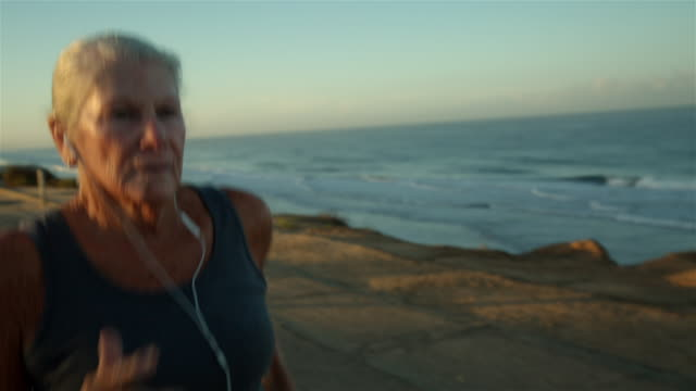Jogging by the coast