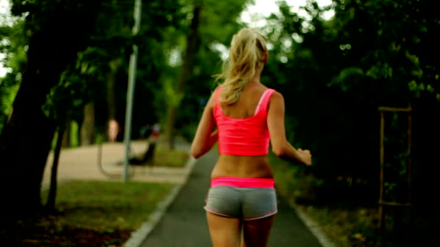 jogging woman - seductive women stock videos & royalty-free footage