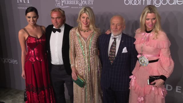 Johan Ernst Nilson Meredith Ostrom Buzz Aldrin and guests at 20th Annual amfAR Gala New York at Cipriani Wall Street on February 07 2018 in New York...