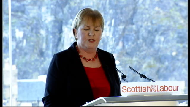 vídeos y material grabado en eventos de stock de johann lamont elected as new scottish labour party leader scotland edinburgh int johann lamont speech to scottish labour party members sot i want to... - enano