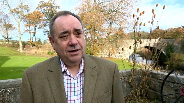 johann lamont resignation: alex salmond interview; scotland: ext alex salmond interview sot - on resignation of johann lamont / the labour party is... - hand on heart stock videos & royalty-free footage
