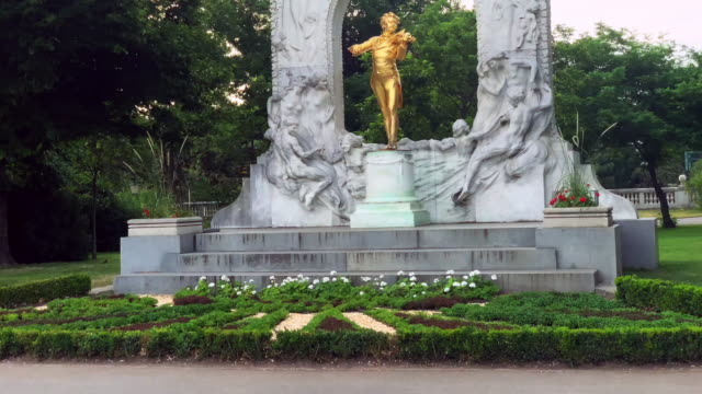 johann strauss statue - real time stock videos & royalty-free footage