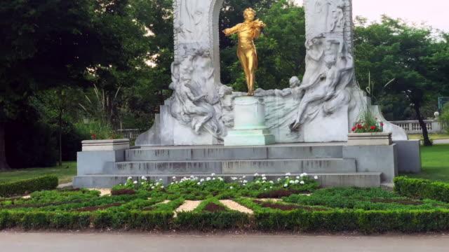 johann strauss statue - music stock videos & royalty-free footage