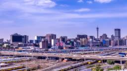 Johannesburg cityscape traffic timeline