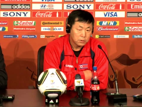 north korean coach kim jonghun said on monday he is plotting one of the biggest shocks in world cup history when his side take on fivetime champions... - campionato sportivo video stock e b–roll