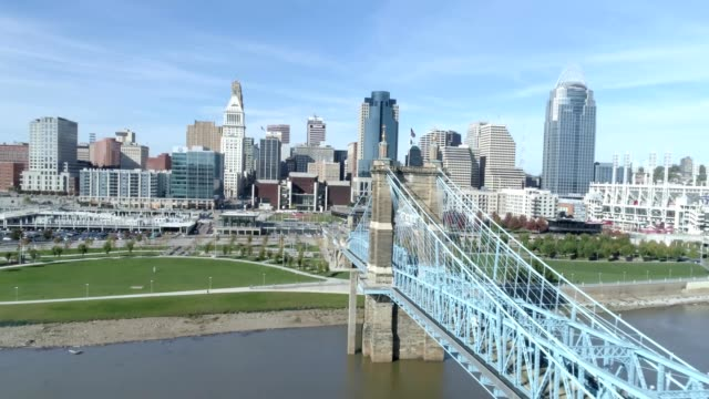 John A. Roebling Suspension Bridge in Cincinnati Ohio