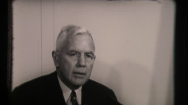 john alexander mccone, chairman of the united states atomic energy commission, on soviet nuclear testing - nuclear power station stock videos & royalty-free footage