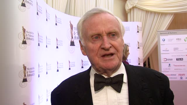 john boorman on how he feels about getting a lifetime achievement award on how much he dislikes award shows at the irish film television awards at... - television awards stock videos & royalty-free footage