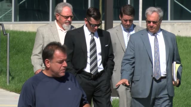john bowlen so of broncos owner pat bowlen makes court appearance at arapahoe county court for an incident in which he was arrested for domestic... - 登場点の映像素材/bロール