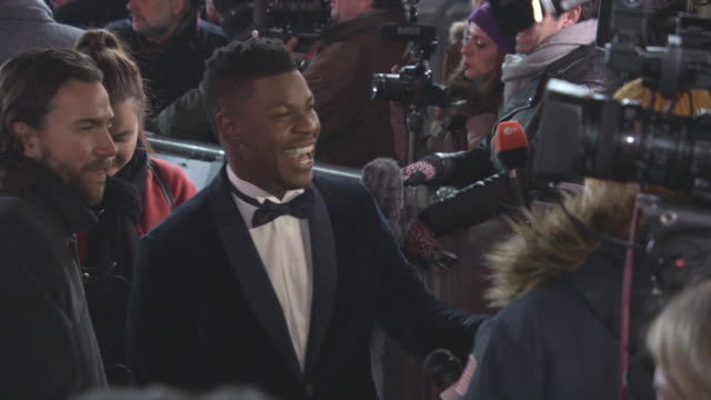 John Boyega at 'Star Wars The Last Jedi' European Premiere at Royal Albert Hall on December 12 2017 in London England