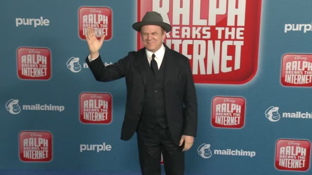 """john c. reilly at the """"ralph breaks the internet"""" world premiere at the el capitan theatre on november 05, 2018 in hollywood, california. - el capitan theatre stock videos & royalty-free footage"""